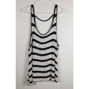 Torrid Black Striped Sleeveless Top Sz 0